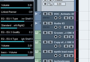 Quick Controls in Cubase