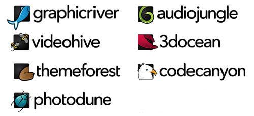 Envato Market Brand logos